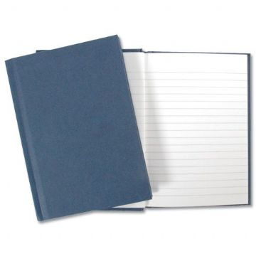5 x MANUSCRIPT BOOK A4 BLUE COVER 192 PAGE/96 LEAF LINED HARDBACK NOTEPAD